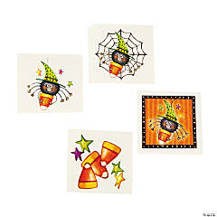 Candy Corn Spider Temporary Tattoos