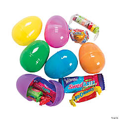 Candy-Filled Bright Plastic Easter Eggs