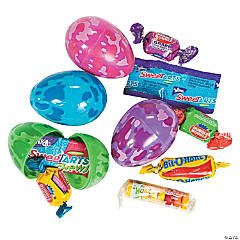 Candy-Filled Camouflage Plastic Easter Eggs - 24 Pc.