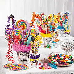 Candy Filled Galvanized Buckets Idea