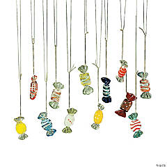 """Candy"" Glass Ornaments"