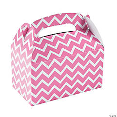 Candy Pink Chevron Treat Boxes