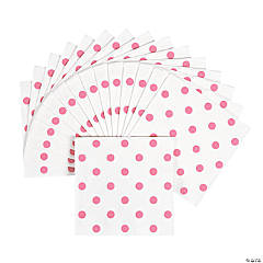 Candy Pink Polka Dot Beverage Napkins