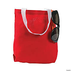 Canvas Red Tote Bags