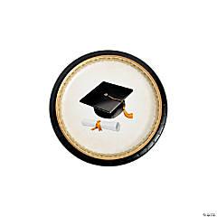 Cap & Gown Graduation Paper Dessert Plates