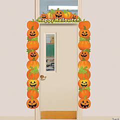 Cardboard Halloween Pumpkin Door Border