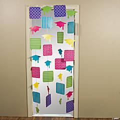 Cardboard Neon Grad Door Curtain