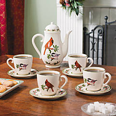 Cardinal Chickadee Tea Set