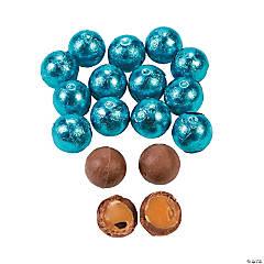 Caribbean Blue Caramel Balls Chocolate Candy