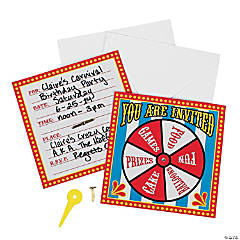 Carnival Spinner Invitations