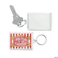 Carnival Theme Picture Frame Keychains