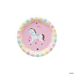 Carousel Baby Shower Paper Dessert Plates