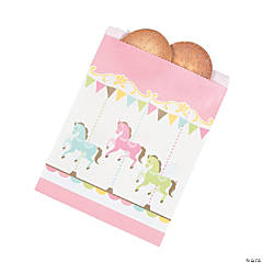 Carousel Baby Shower Paper Treat Bags