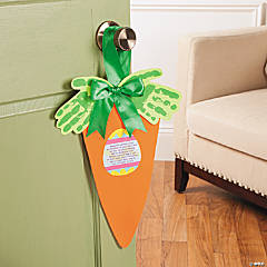 Carrot Doorhanger Craft Idea