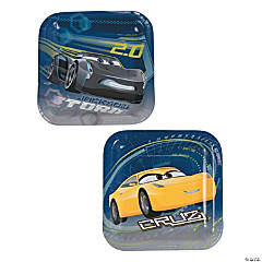 Cars 3™ Square Paper Dessert Plates  sc 1 st  Oriental Trading & Disney Cars