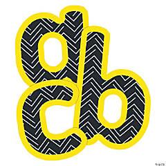 Carson-Dellosa<sup>&#174;</sup> Black & Yellow Lowercase Bulletin Board Letters