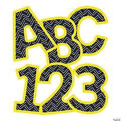 Carson-Dellosa<sup>&#174;</sup> Black & Yellow Uppercase Bulletin Board Letters