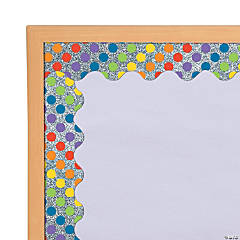 Carson-Dellosa<sup>&#174;</sup> Glitter Rainbow Dots Scalloped Bulletin Board Borders