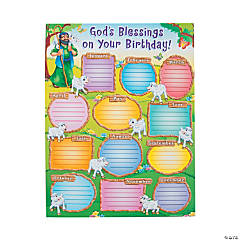 Carson-Dellosa<sup>&#174;</sup> God&#8217;s Blessings on Your Birthday Chart