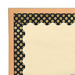 Carson-Dellosa<sup>&#174;</sup> Gold Glitter Dots Scalloped Bulletin Board Borders