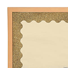 Carson-Dellosa<sup>&#174;</sup> Gold Glitter Scalloped Bulletin Board Borders