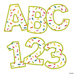 Carson-Dellosa<sup>&#174;</sup> Rainbow Sprinkles Uppercase Bulletin Board Letters