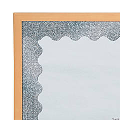 Carson-Dellosa<sup>&#174;</sup> Silver Glitter Scalloped Bulletin Board Borders