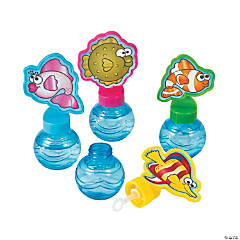 Cartoon Tropical Fish Round Bubble Bottles