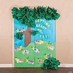 Caterpillar Door Décor Idea