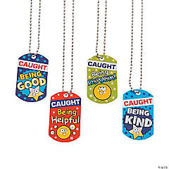 Caught Being Good Dog Tag Necklaces
