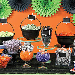 Cauldron Halloween Candy Buffet Idea