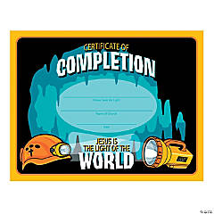 Cave Adventure Certificates of Completion