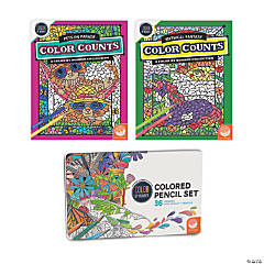 CBN: Color Counts: Pets & Fantasy Set of 2 and 36 Pencils
