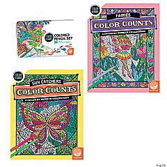 CBN: Color Counts: Sun Catcher/Fairy Set of 2 and 36 Pencils