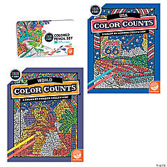 CBN: Color Counts: Travel Set of 2 and 36 Pencils