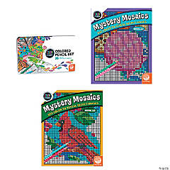 CBN: Mystery Mosaics: Books 11 & 12 with 36 Colored Pencils Set