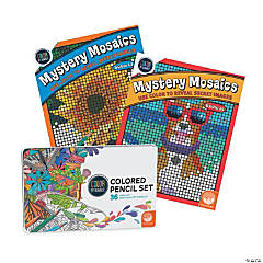 CBN Mystery Mosaics: Books 13 & 14 with 36 Colored Pencils Set