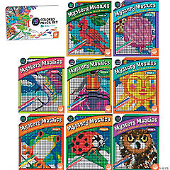 cbn mystery mosaics set of eight books and free pencils