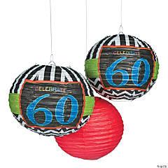 Celebrate 60th Birthday Hanging Paper Lanterns
