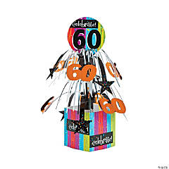 Celebrate Milestone 60th Birthday Centerpiece