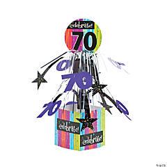 Celebrate Milestone 70th Birthday Centerpiece