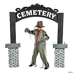 Cemetery Archway Cardboard Stand-Up
