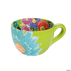 Ceramic Tea Cup Flowerpot Idea