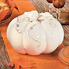 Ceramic White Pumpkin