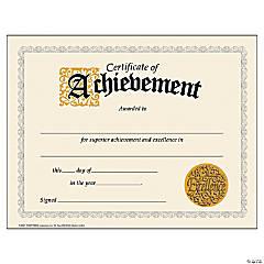 Certificate of Achievement - 30 per pack, 6 packs