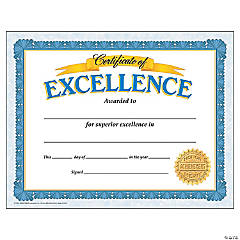 Certificate of Excellence - 30 per pack, 6 packs