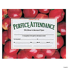 Certificate of Perfect Attendance, 30 per Pack, 6 Packs