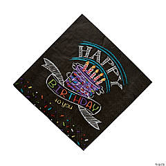 Chalk Birthday Luncheon Napkins