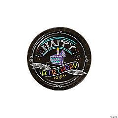 Chalk Birthday Paper Dessert Plates