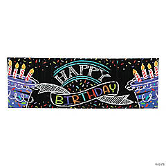 Chalk Birthday Party Giant Plastic Banner
